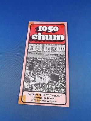 1050 Chum Radio Station Toronto Top 30 Songs August 1974 Summer Caravan