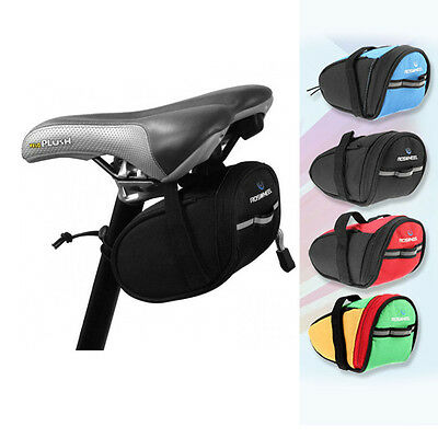 ROSWHEEL Outdoor Bike Bicycle Cycling Saddle Bag Tail Rear Pouch Seat Storage UK