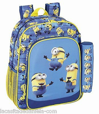 MINIONS Mochila Junior adaptable a carro + estuche // Junior Rucksack