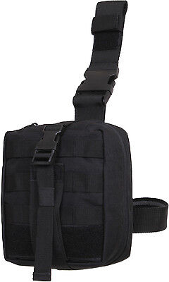 Black MOLLE Tactical Drop Leg EMT Medical Supply Pouch
