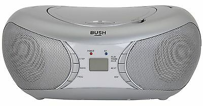 Bush Bluetooth Boombox Silver CD-78-BTFM
