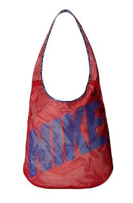 Nike Womens Graphic Reversible Tote Carry All Gym Bag Red/Blue