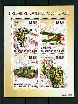 Guinea 2015 MNH WWI First World War I 4v M/S Mark Lodestar Tanks Planes Stamps