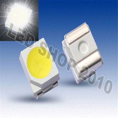 100PCS POWER TOP SMD SMT White PLCC-2 3528 1210 Super Bright Light LED CF