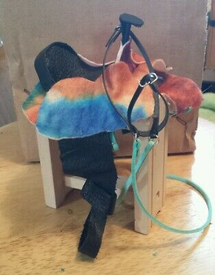Breyer horse custom saddle and bridle set hippie tiedie tye dye