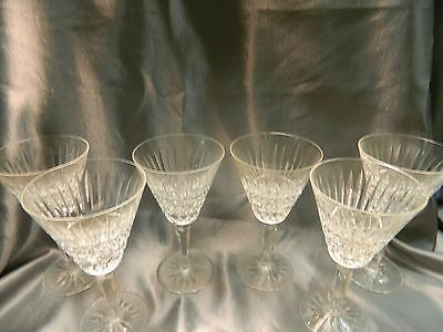 Set of 6 Waterford 24% Lead Crystal Wine Goblets or Water Glasses Six Beautiful