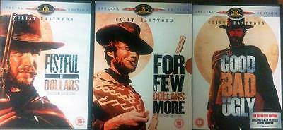 THE DOLLARS TRILOGY Fistful*For A Few Dollars More*Good Bad & Ugly SE DVD *EXC*