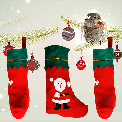 Christmas Santa Claus Snowman Toy Stockings Filler Hanging Socks XMAS Gift
