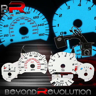 For 1992-1998 BMW E36 M3 Indiglo Glow Gauge Racing Cluster Upgrade Euro