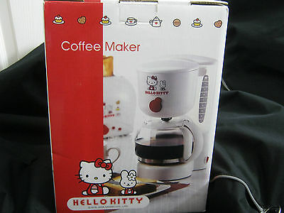 New Only 1 Rare Hello Kitty Sanrio Special Coffee Maker 10 Cups Non Drip