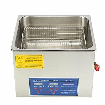 HFS  Commercial Grade Digital Ultrasonic Cleaner - Stainless Steel (15L - 4 Gal)