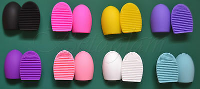 Makeup Brush Cleaner Scrubber Brushegg Cosmetic Cleaning Silicone Foundation(UK)