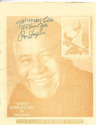 """Mayor Harold Washington proclaims """"POPS"""" Staples Day in Chicago Autographed Rare"""