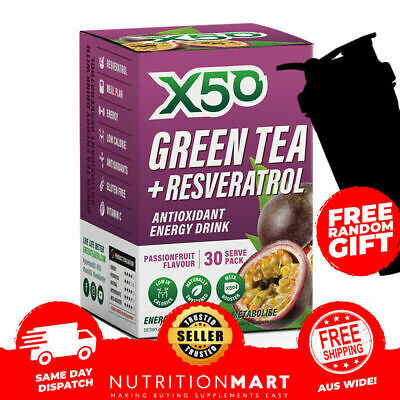Green Tea X50 Peach Tribeca Health Detox Tea  & Shaker