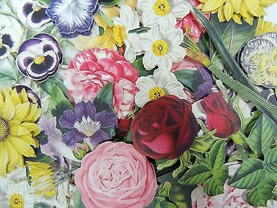 24 Anna Griffin SMALL 3D Decoupage FLOWERS Die Cuts Embellishments Roses Pansies