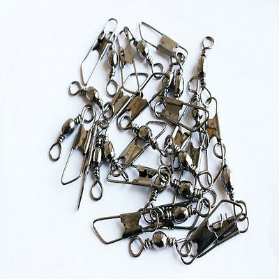 100Pcs Fishing Barrel Rolling Swivel Fishing Snap Tackle Connector Accessories