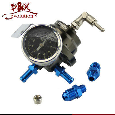 Brand new Aluminum Adjustable Fuel Pressure Regulator Type L With Gauge Type L