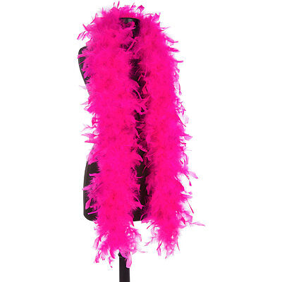Hot Pink 40 Gram Chandelle Feather Boas - 6 Feet Long - Halloween Costumes Trim