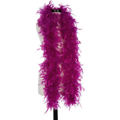 Grape 40 Gram Chandelle Feather Boas - 6 Feet Long - Halloween Costumes - Trim