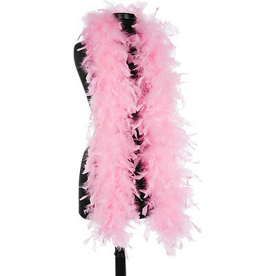 Candy Pink 40 Gram Chandelle Feather Boas - 6 Feet Long Halloween Costumes Trim