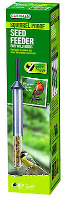 Gardman Guaranteed Squirrel Proof Seed Feeder Holds 200g Mix Garden Patio