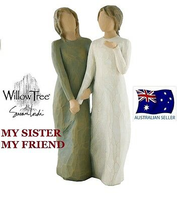 MY SISTER  MY FRIEND Demdaco Willow Tree Figurine By Susan Lordi  NEW IN BOX