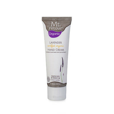 Certified Organic Lavender Hand Cream by Mt Retour - Australian, all natural