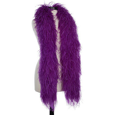 Purple 8 Ply Ultra Ostrich Feather Boas - Scarf - 6 Feet Long Halloween Costumes