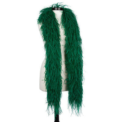Hunter Green 6 Ply Ultra Ostrich Feather Boas - Scarf - 6 Feet Long - Halloween