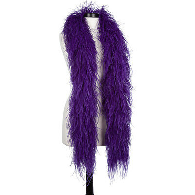 Regal Purple 6 Ply Ultra Ostrich Feather Boas - Scarf - 6 Feet Long - Halloween