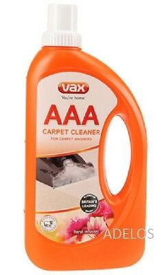 Vax AAA Carpet Upholstery Improved Formula Cleaning Solution Shampoo 750ML