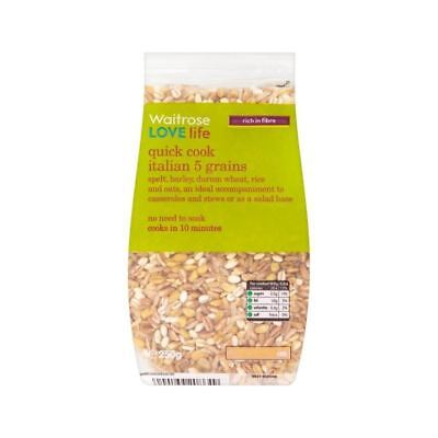 Quick Cook Italian 5 Grains Waitrose Love Life 250g