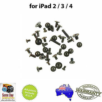 for iPad 2 / iPad 3 / iPad 4 - Full Set of Screws / Full Screw Set - Replacement