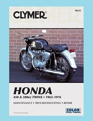 M333 Clymer Workshop  Manual for Honda CB CL CB450 CL450 & CB500 1965 to 1976