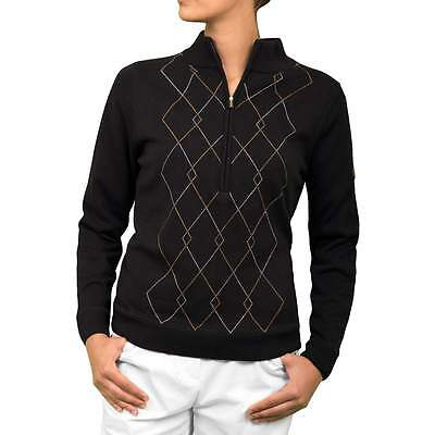 44% OFF New Green Lamb Argyle Lined Golf Sweater Ladies Womens Sweater Jumper