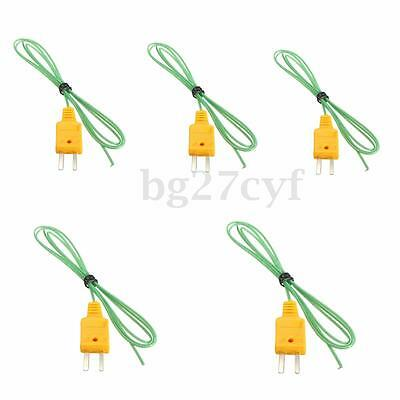 5PCS K-Type Thermocouple Wire Digital Temperature Mesure Sensor Probe Tester 1m