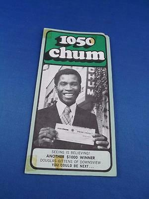 1050 Chum Radio Station Toronto Top 30 Songs November 1973 Another $1000 Winner