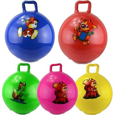 Kids Large Space Hopper Jump Bounce Retro Ball Safe Handle Bouncy Toy Xmas Gift