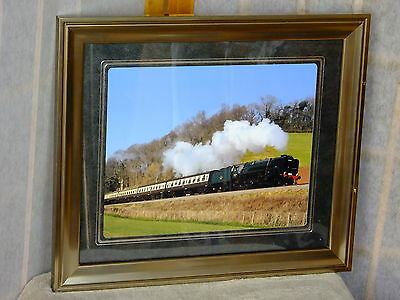"""BR Standard 9F Steam Loco Somerset 10 x 8"""" Mounted & Framed Limited Edition"""