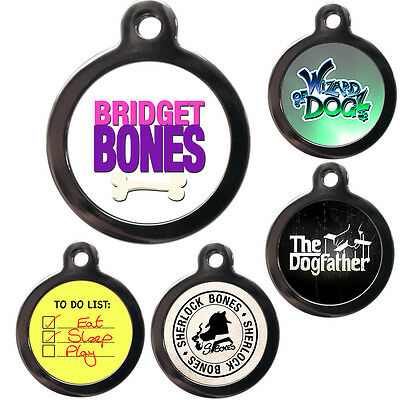 TV MOVIE FILM PET TAGS - Engraved FREE - Pet ID Tags - Dog Cat Name Disc