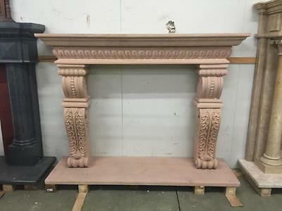 Beautiful Hand Carved Marble Estate European Design Fireplace Mantel - Jd654