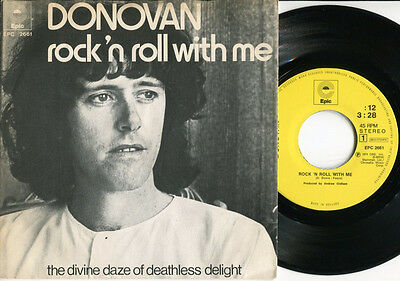 """DONOVAN - Rock'n Roll With Me / The Divine Daze Of Deathless Delight 7"""" Dutch PS"""
