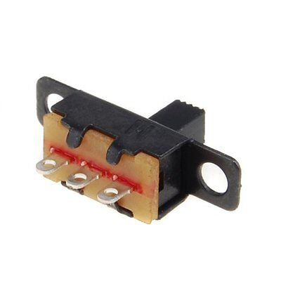 20pcs 5V 0.3 A Mini Size Black SPDT Slide Switch for Small DIY Power SG