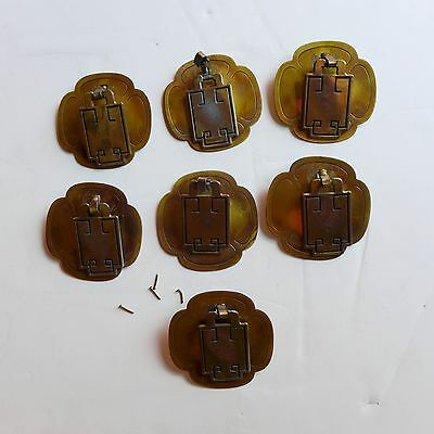 Midcentury ASIAN Style Solid Brass Drawer (8) Pulls by DAVIS modern Furniture