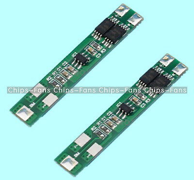 7.2V 6A 2S Dual MOS Polymer Lithium Battery Protection Board for 2pcs 18650 New