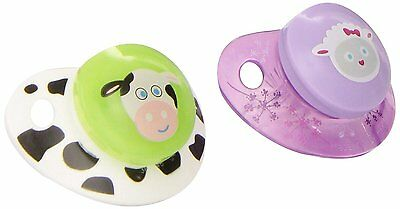 33NUK Advanced Clear Shield Orthodontic Pacifier, Size 1 - Sheep/Cow