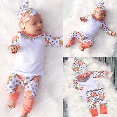 Toddler Infant Baby Girls Clothes T-shirt Tops+Floral Pants Leggings Outfits Set