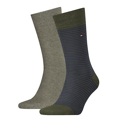 Tommy Hilfiger Mens Formal Classic Striped Cotton Sock (2 Pair Pack) UK 6-11