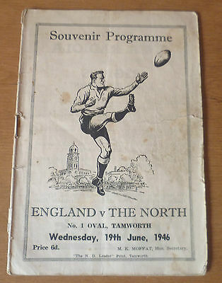 1946 - The North v Great Britain (England) - Touring Match Programme.