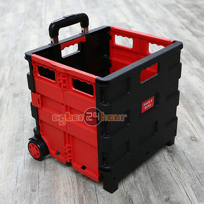 New 1x Nice Folding Shopping Trolley Storage Boot Cart Box Crate Car Van Camping